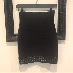 BCBGmaxazria black pencil skirt with studs